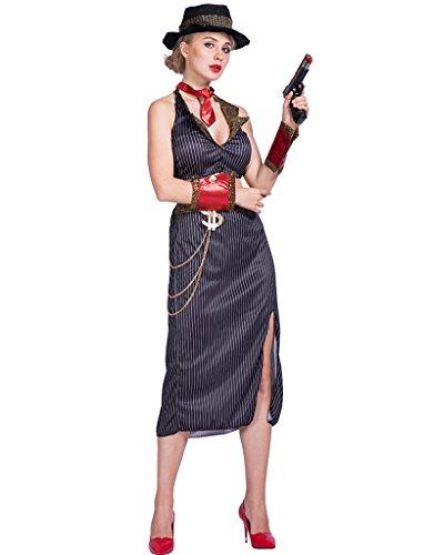 EraSpooky Damen Glam Gangster Kostüm