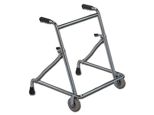 GiMa Rollator mit 2Räder, verstellbare Höhe, Kapazität: 100kg, Mobilität Gehhilfe -