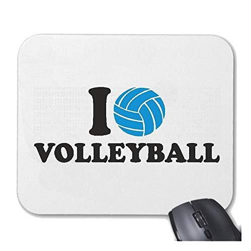 Helene Mousepad (Mauspad) I Love Volleyball - Strand Volleyball - Beach Volleyball - Volleyball Spieler - Volleyballspielerin für ihren Laptop, Notebook oder Internet PC (mit Windows Linux usw.