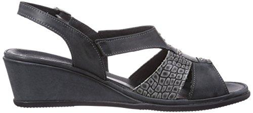 Comfortabel 710699 Damen Slingback Sandalen mit Keilabsatz Grau (Shark)