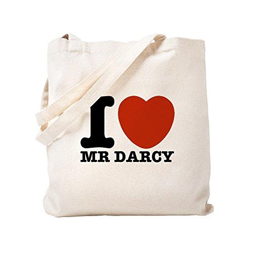 CafePress I Love Darcy Jane Austen Tragetasche, canvas, khaki, S