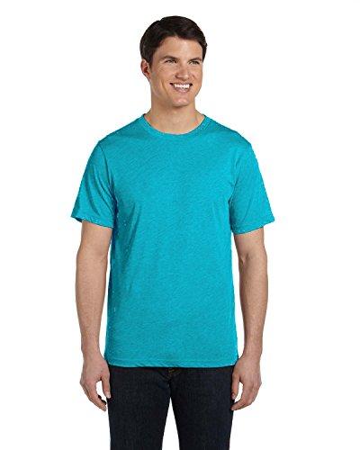 Bella+Canvas: Men`s Triblend V-Neck T-Shirt 3415 Teal Triblend