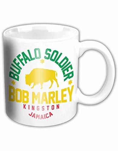 Bob Marley Kaffeetasse Buffalo Soldier Nue offiziell Weiß boxed