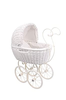 Small Foot Company 6747 - Cochecito de muñecas de mimbre color blanco por Small Foot Company