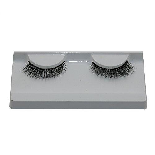 wyxhkj faux cils 1 paires longue croix faux cils maquillage naturel faux épais cils yeux noirs (C)