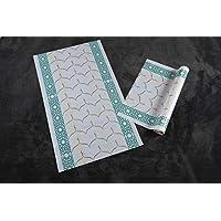 Al Salem Carpet Carpet Disposable Prayer Mat Roll 100 micron 065 CM X 115 CM WHITE