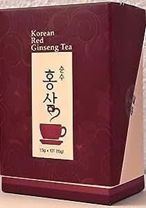 Korean Red Ginseng Tee, Teabag (1.5g x 10), ohne Zusatzstoffe