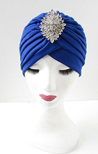 Bleu et argent Diamante strass à motif Turban Vintage Années 1920 ANNÉES Y90 * * * * * * * * exclusivement vendu par – Beauté * * * * * * * *