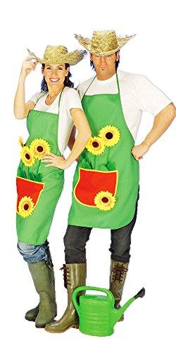 Kostüm Garten Galaxy Des - Das Kostümland Gärtnerschürze Grillschürze grün mit Sonnenblumen
