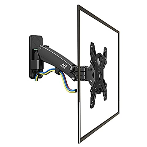 TV Wall Mount F350 for 40 – 50 inch Flat TV Screens, Support load 17.6 to 35 lbs (8-16 kg),Adjustable Height, Swivels,
