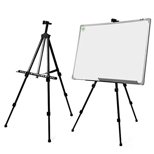 SODIAL(R) Tableau Blanc Artiste Telescopique Champ Studio Chevalet de Peinture Trepied Presentoir