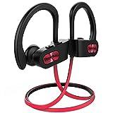 Mpow Écouteur Bluetooth Sport, IPX7 Étanche Écouteur Sans Fil,Écouteur Sport Sans Fil Basse+, CVC 6.0 Micro Anti-Bruit, Oreillette Bluetooth Sport HiFi Stéréo &Autonomie de 10H pour Course/Gym/Jogging