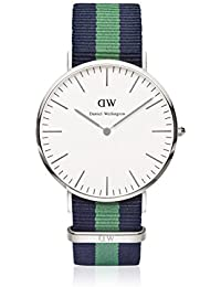 Daniel Wellington 0205DW - Reloj con correa de nailon, color azul/ verde
