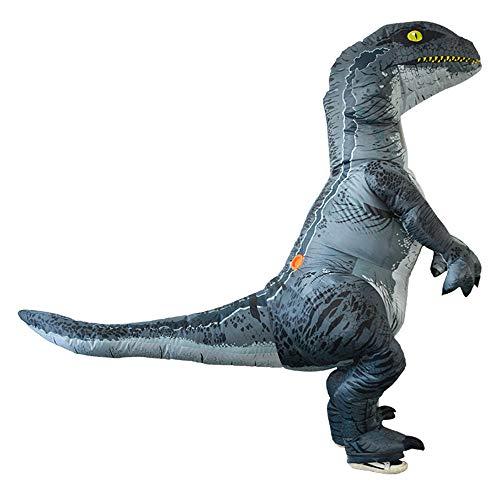 Happy Event Erwachsenes aufblasbares Dinosaurier-Kostüm | Halloween Cosplay | Sprengen Sie Outfit Velociraptor