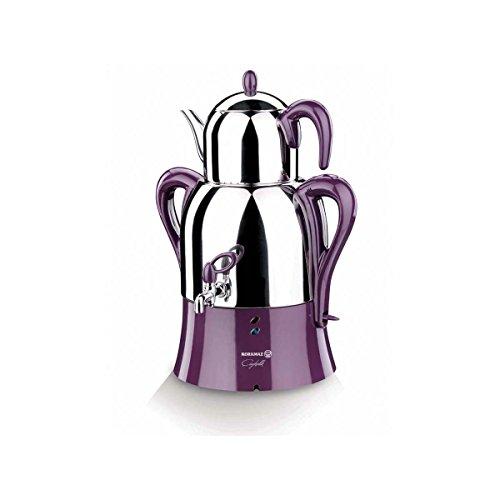 ett Farbe Teekanne türkisch Doppeltes Elektrisches Teekocher Wasserkocher Tee Samowar ()