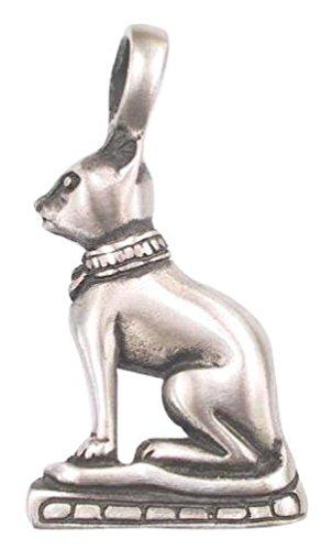 Llords Schmuck Halskette mit ägyptischer Katzengöttin Statue Mau Anhänger, feinster Zinn Metall Modeschmuck