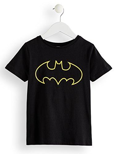 RED WAGON Jungen T-Shirt DC Batman-Print, Schwarz (Black 001), 110 (Herstellergröße: 5 Jahre)
