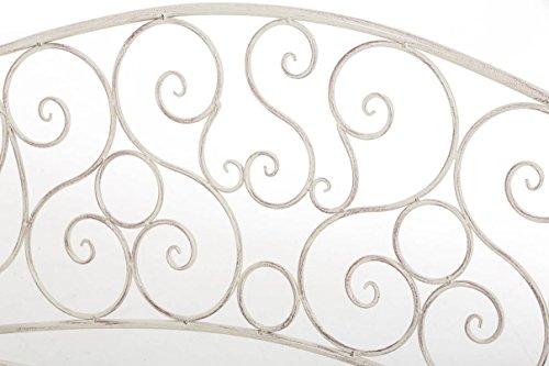 CLP Metall Gartenbank TUAN, 2-er Sitz-Bank Garten, Eisen lackiert, Design nostalgisch antik, 105 x 50 cm Antik Creme - 5