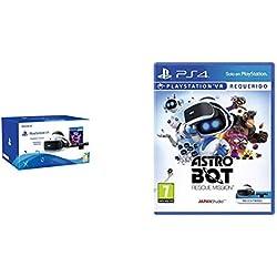 Sony - PlayStation VR Casco De Realidad Virtual Mk4/SPA + VR Worlds + Cámara (PS4) + AstroBot: Rescue Mission - Edición Estándar