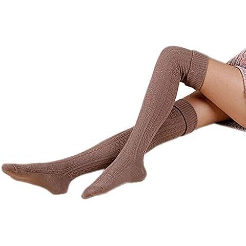 TININNA Inverno Caldo nuovo paragrafo alti Calzini Leggings Calze lunghe Calzini Calze al ginocchio per le donne khaki