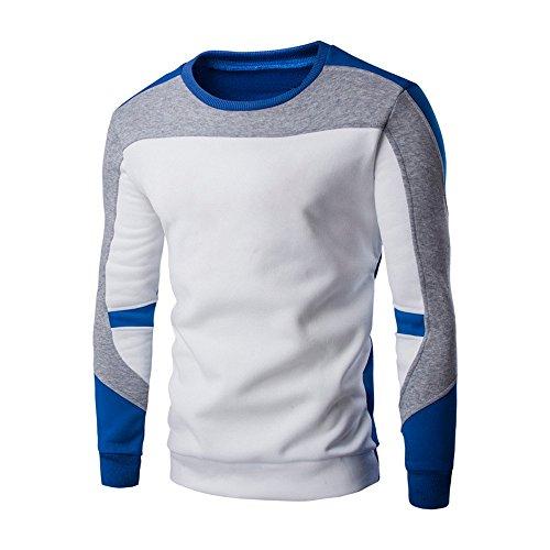 JYJM Herren Head Stitching Langarm Pullover Herren Rundhals Shirt Herren Stitching Color Shirt Herren Langarm Pullover Herren Casual...