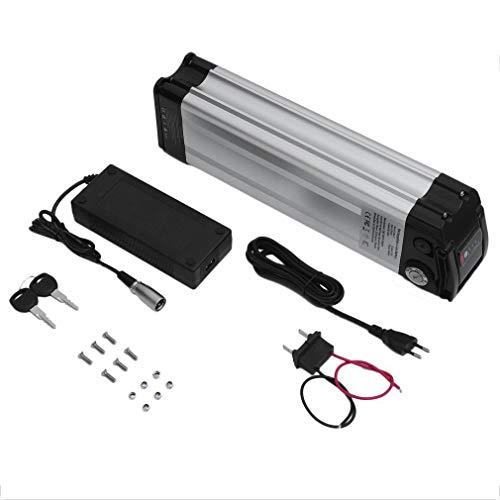E-Bike Akku Li-Ion Batterien 48V 12.5Ah 600Wh Pedelec Elektrofahrrad Umbausatz Rahmenakku Trinkflaschenakku Silber