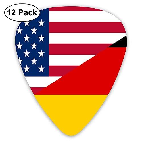 America Vs German Classic 12 Pack Guitar Picks Plectrums Bass 4 Gauge Vs 8 Gauge