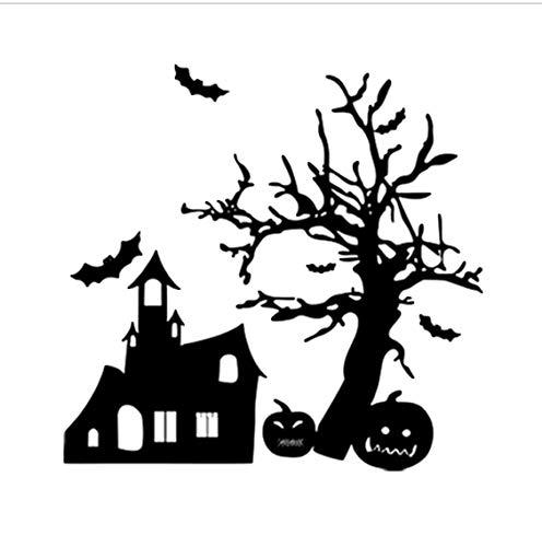 Halloween Kürbis Fledermaus Spukhaus Entfernbare Wandaufkleber Home Shop Wandbild Kunst Tapete Hallowen Liefert 57 * 55 cm