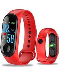 WANGLAI 1 Pc Rastreador de Ejercicios, rastreador de Actividad con Monitor de presión Arterial de Ritmo cardíaco, Pulsera Inteligente…