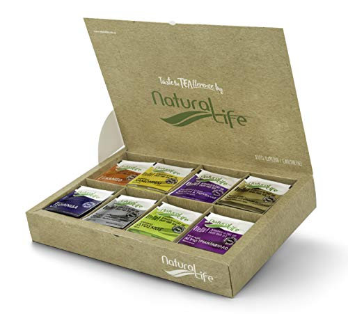 Natural Life 100% Herbal Infusions Tea Selection - 120 Tea Bags (8 Wild Herb Flavours) - Gift Pack Collection