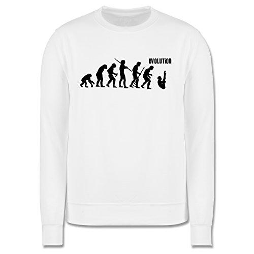 Evolution - Turmspringen Evolution - Herren Premium Pullover Weiß