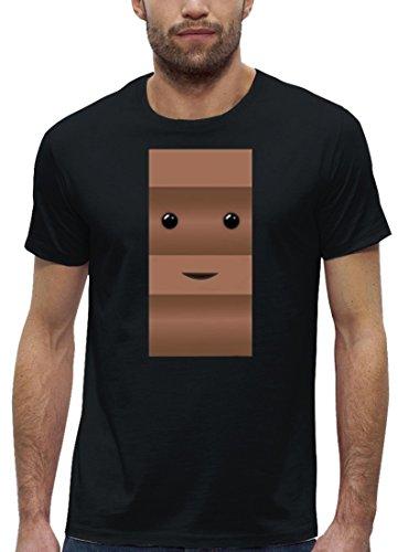 Karneval Fasching Verkleidung Premium Herren T-Shirt Schoko und -