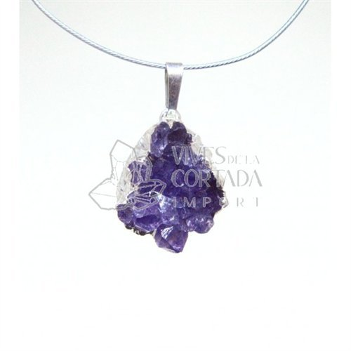 Mineral Import - Small Amethyst Druse with Silver Bathroom - 1133VC