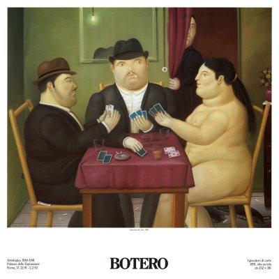 Lámina 'I Giocatori di Carte', de Fernando Botero, Tamaño: 68 x 68 cm