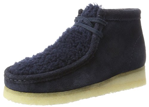 Clarks Originals Damen Wallabee Boot. Stiefel, Blau (Navy Suede), 36 EU (Suede Stiefel Casual)