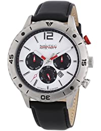 Nautec No Limit Herren-Armbanduhr XL Phantom Analog Automatik Leder PH AT/LTSTSTWH
