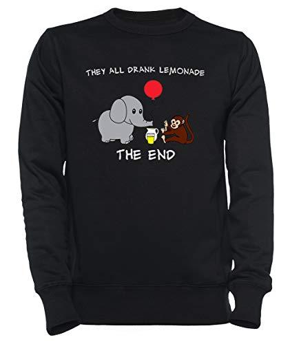 Rundi The Elephant Who Lost His Balloon Herren Damen Unisex Sweatshirt Kapuzenpullover Schwarz Größe M - Women's Men's Unisex Sweatshirt Hoodie Black