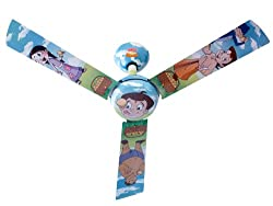 Usha Chhota Bheem Ladoo 1200mm Kids Ceiling Fan without Regulator (Multi-color)