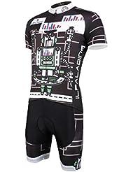 Vêtements de vélo Vêtements de cyclisme Tops avec shorts Polyester pour hommes Anti-UV Quick Dry Respirant Tight Short Sleeve Short Set pour Summer Spring Autumn