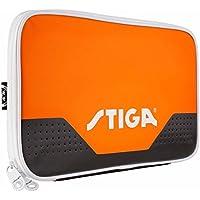 League Single Table Tennis Batcover Hexagon Black/Orange - Stiga