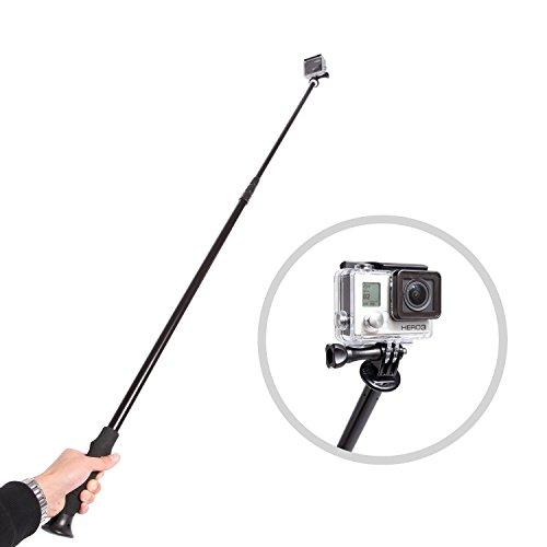 MOVO Foto PH300 Selfie Pole 86cm bis 254cm Erweiterung/Zauberstab für Digitalkameras (1/4
