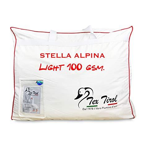 Piumino tex tirol © stella alpina light 100% piumino oca leggero estivo matrimoniale