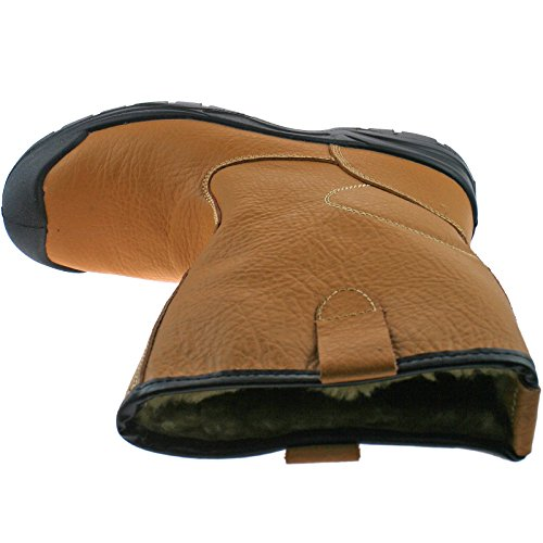 Grafters , Baskets mode pour homme Marron - Tan Leather