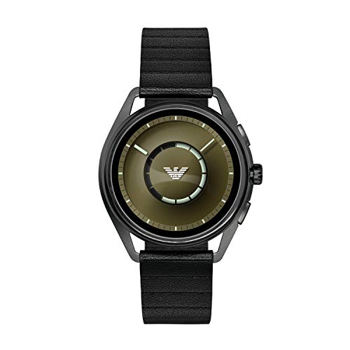 Emporio Armani Mens Digital Connected Wrist Watch with Leather Strap ART5009