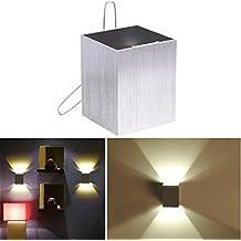 Liqoo® Apliques de pared Lámpara de Pared Led lámpara de Pasillo Decoración para Dormitorio Habitación Salón Luz de Ambiente 3W blanco cálido 220 Lumen