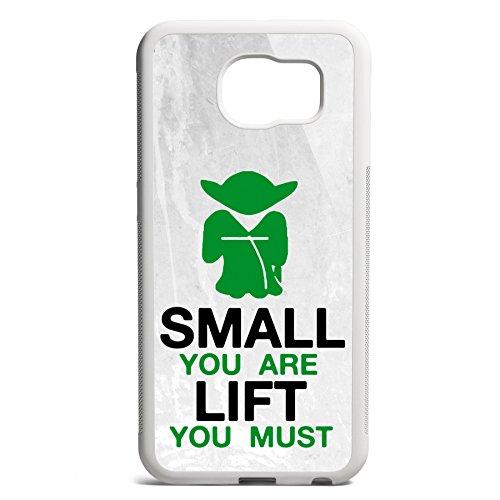 Smartcover Case Small you are - Lift you must z.B. für Iphone 5 / 5S, Iphone 6 / 6S, Samsung S6 und S6 EDGE mit griffigem Gummirand und coolem Print, Smartphone Hülle:Iphone 6 / 6S schwarz Samsung S6 EDGE weiss
