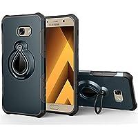 Para Samsung Galaxy A5(2017) caso [Water-Drop Armor] 360Degree anillo giratorio carcasa, integrado anillo soporte Función atril, puede funcionar con soporte magnético, resistente a los impactos, a prueba de golpes
