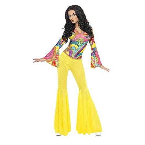 Ideen Kostüm Jahre 70er (Smiffys, Damen 70er Groovy Babe Kostüm, Oberteil und Schlaghose, Größe: S,)