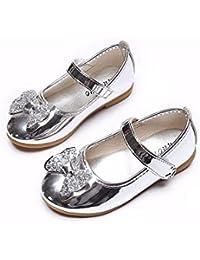 Zapatos de Baile de Arco Niña Zapatos Bebe Niña con Suela Verano Zapatos de Princesa Chicas