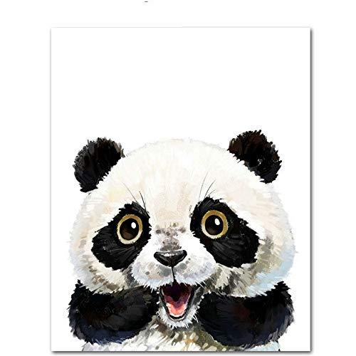 LAMAMAG Malen nach Zahlen Wow-Panda Niedlichen Tier DIY Malen Nach Zahlen Kit Malen Auf Leinwand Malerei Kalligraphie Für Wohnkultur
